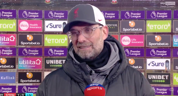 An unhappy Klopp at full-time.