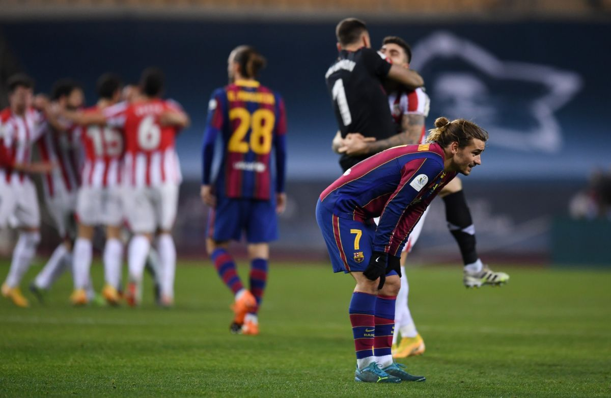 """""""Fucked, angry and upset by the defeat"""", confesses Griezmann after losing the Super Cup   The State"""