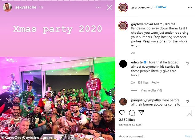 Instagram accounts roast partygoers for gathering in large groups and call out maskless Americans