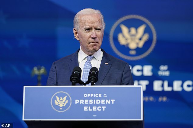 President-elect Joe Biden called on President Donald Trump to go on television to call off his 'extremist mob' that stormed Capitol Hill as lawmakers were trying to certify the Electoral College results