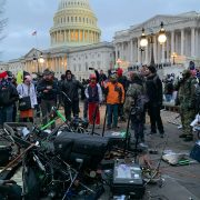 MAGA rioters destroy television cameras and chase down news crews at the US Capitol