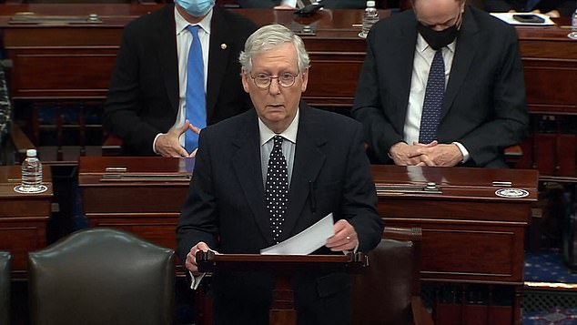 Senate Majority Leader Mitch McConnell ripped his GOP colleagues who are trying to mount challenges to the presidential election during a Congressional session Wednesday