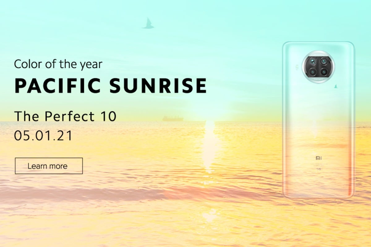 Mi 10i Pacific Sunrise Colour Option Teased Ahead of Launch
