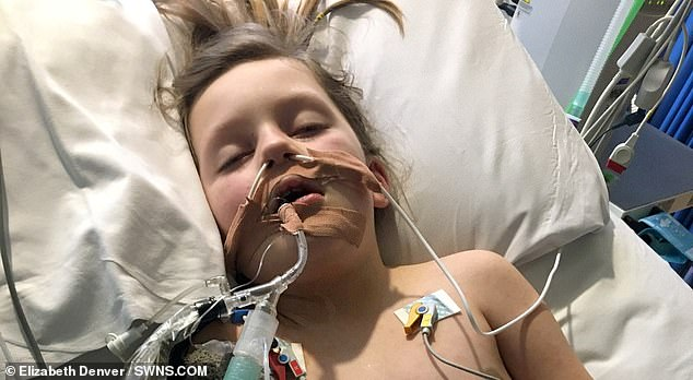 Mother shares photo of her seven-year-old son in hospital