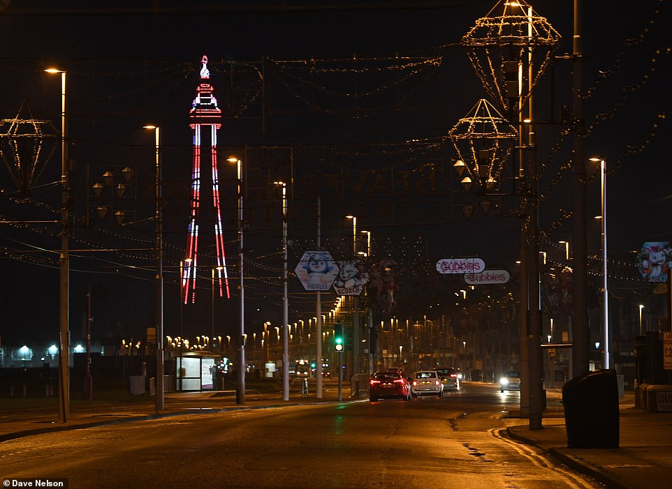 BLACKPOOL:Blackpool - another traditional New Year's Eve hotspot - was equally abandoned by rule-abiding citizens who stayed at home