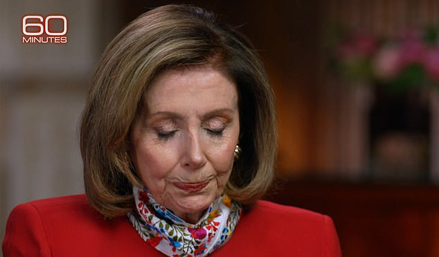 Pelosi chokes up on 60 Minutes retelling how her staff hid for two hours as MAGA mob rampaged