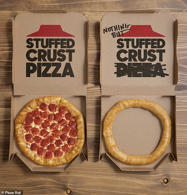 Pizza Hut launches 'Nothing But Stuffed Crust' – made with just cheese-filled crust and NO pizza