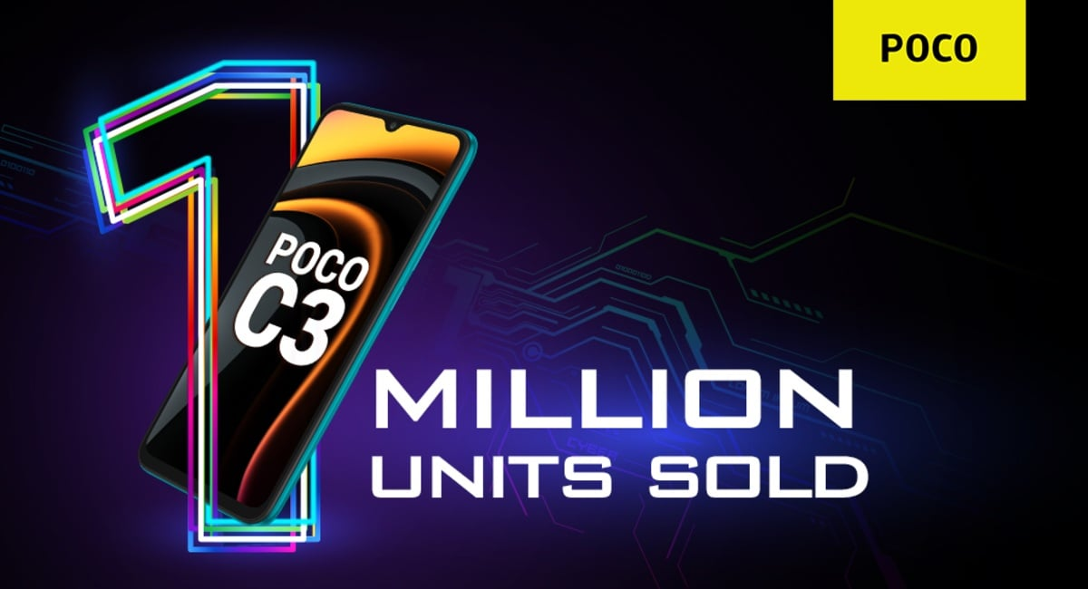 Poco C3 Crosses 1-Million Sales in India, Gets a Limited-Period Discount