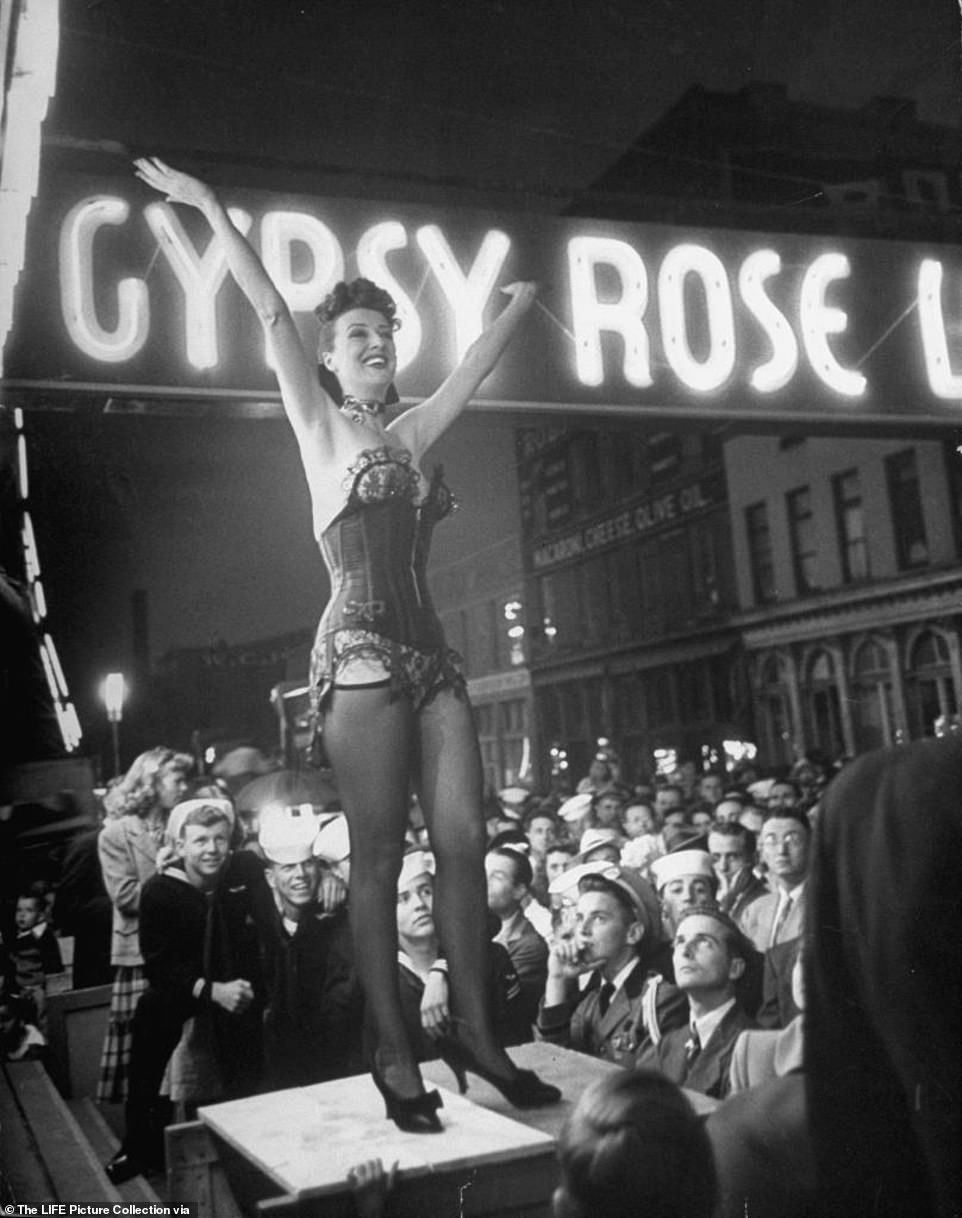 Rare images Gypsy Rose Lee world famous stripper life story inspired greatest musicals ever written