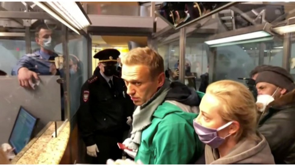 Navalny at the time of his arrest.