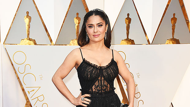 Salma Hayek, 54, Stuns In Red Swimsuit As She Lounges In A Hammock — See Pic