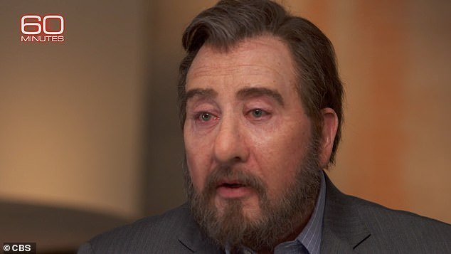 Sandy Hook father given full facial disguise on 60 Minutes due to threat from conspiracy theorists