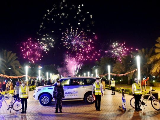 Sharjah  Police receive 9,297 calls over New Year's holiday