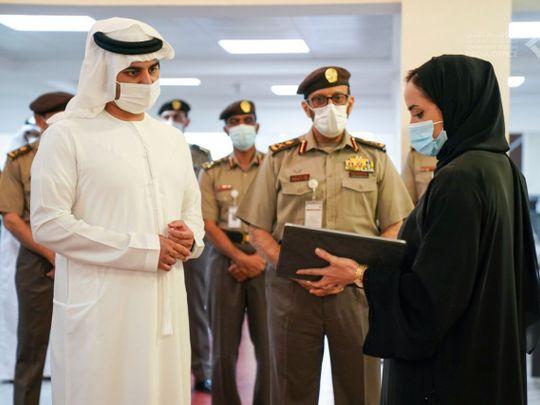 Sheikh Maktoum bin Mohammed visits GDRFA headquarters in Dubai