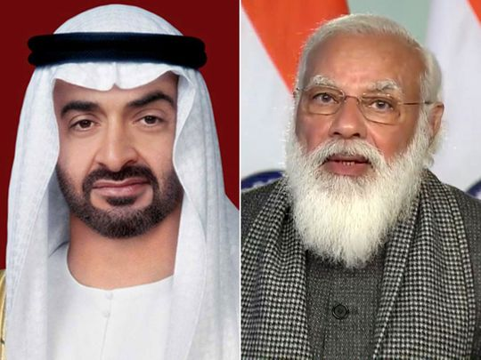 Sheikh Mohamed bin Zayed, Indian Prime Minister Modi discuss ways to enhance bilateral ties
