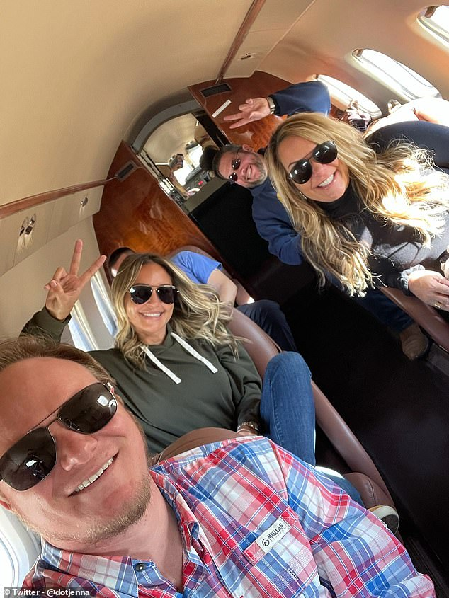 Texas real estate broker took a private jet to join Trump supporters in DC rally