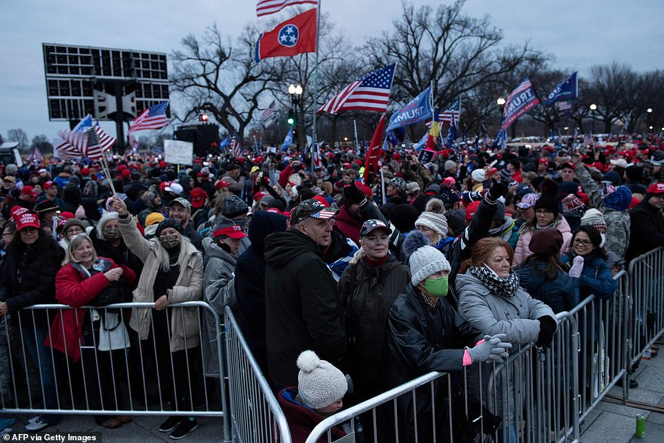 Thousands of Trump supporters gather in front of White House for 'Save America' rally