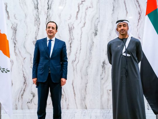 UAE: Abdullah bin Zayed, Cyprus foreign minister review cooperation