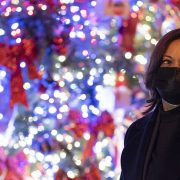 VP-elect Harris visits D.C. Christmas tree decorated with pictures of her