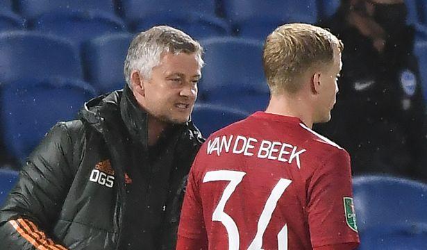 Van de Beek has struggled for game time under Ole Gunnar Solskjaer at Man United