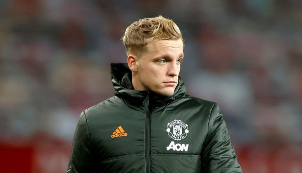 Donny van de Beek is reportedly disappointed and upset at Manchester United