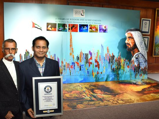 World's largest pop up greetings card record broken in Dubai, features Sheikh Mohammed