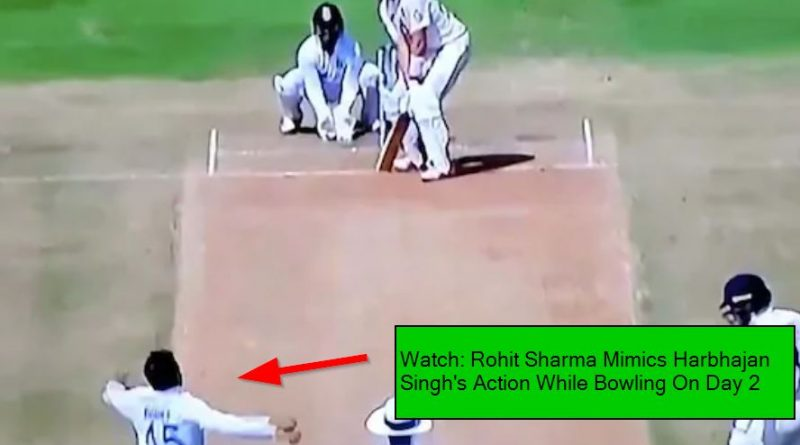Watch: Rohit Sharma Mimics Harbhajan Singh's Action While Bowling On Day 2