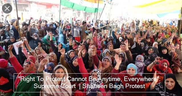 """Right To Protest Cannot Be Anytime, Everywhere"": Supreme Court  