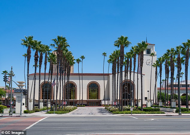 I love LA: Union Station was placed on the National Register of Historic Places in 1980 and serves more than 110,000 passengers per day as one of the busiest train stations in the entire country