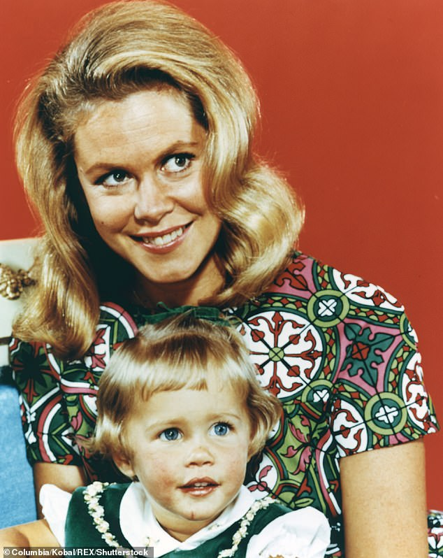 Legend: She began acting as a baby and rose to fame as Tabitha on Bewitched in the 1960s; she is pictured with Elizabeth Montgomery who played her mother on the sitcom