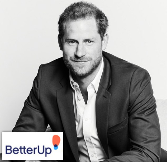 The Duke of Sussex was unveiled on Tuesday as the chief impact officer at BetterUp with this corporate black and white photograph of Harry released at the same time.Sources told DailyMail.com that the Duchess is no longer using Collins as her agent after lucrative business ventures allowed her to hire a new in-house team