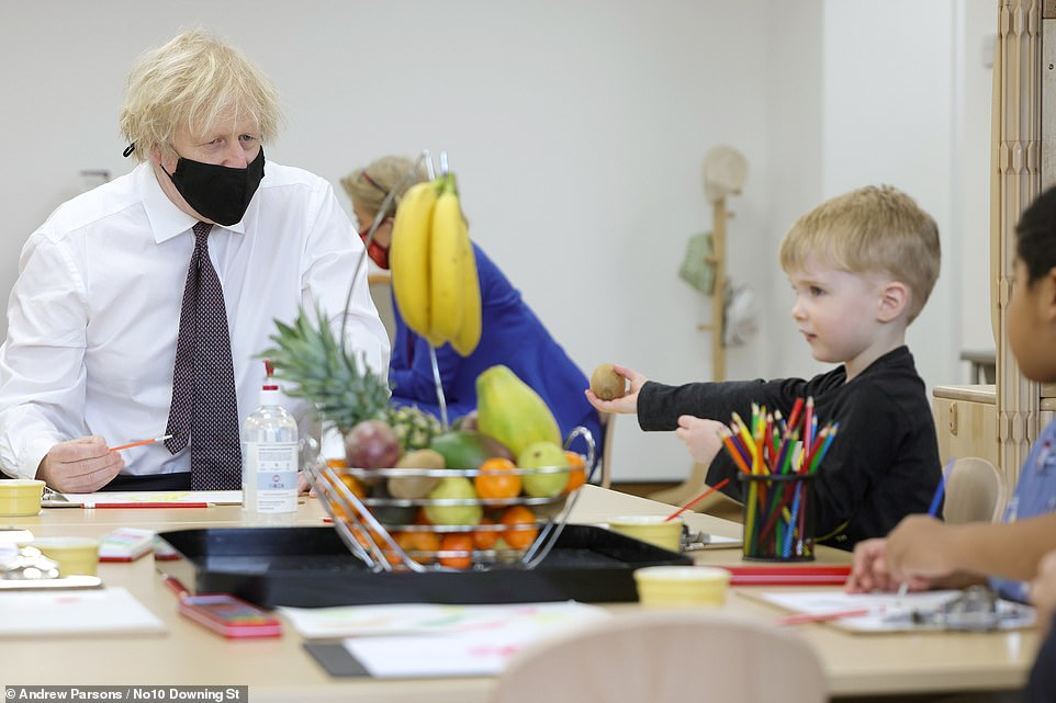 On a visit to a nursery in London today, Mr Johnson said he was 'on the side of openness' in trade in vaccines