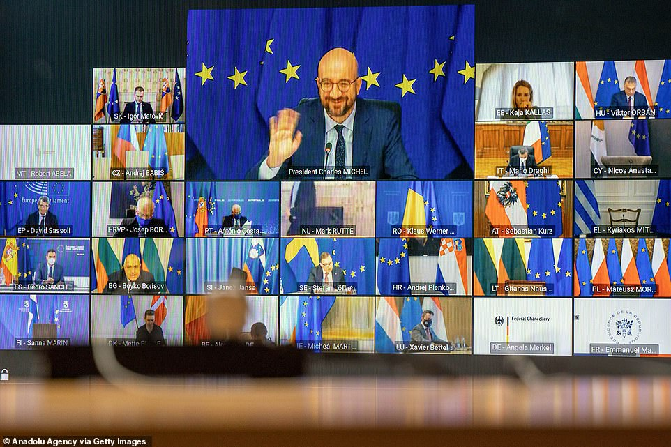 The EU summit today and tomorrow is taking place via video link after the council admitted that the pandemic prevented them meeting in person