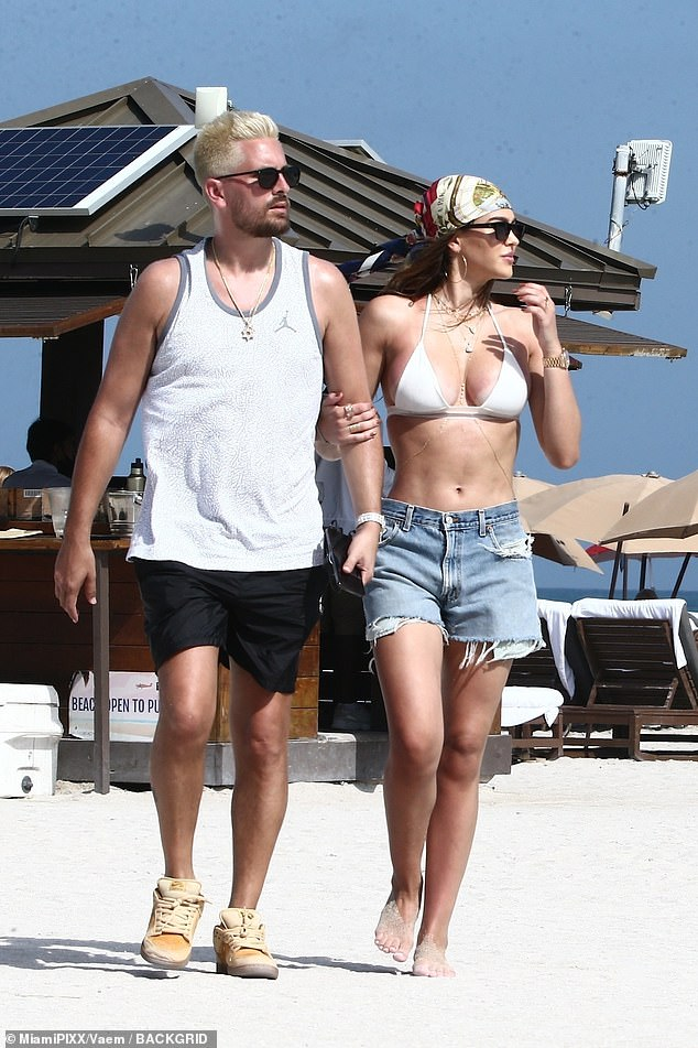 He moved on: Her ex Scott Disick is now dating Lisa Rinna's daughter Amelia Hamlin; seen in Miami in mid February