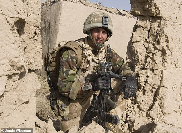 Lt Jem McIlveen, Platoon Leader of 6 Platoon, B company, 2 Mercians, pictured during a day of fighting the Taliban. Lt McIlveen left the Army in 2013 and now works in tech for Amazon