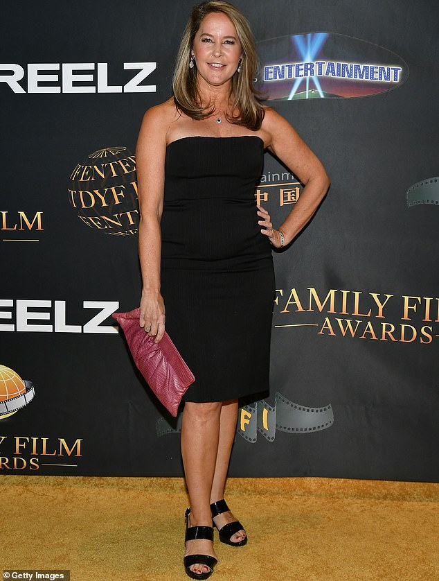 Looking fab:Erin Murphy cut a glamorous figure when she was spotted attending the Family Film Awards in Los Angeles this Wednesday