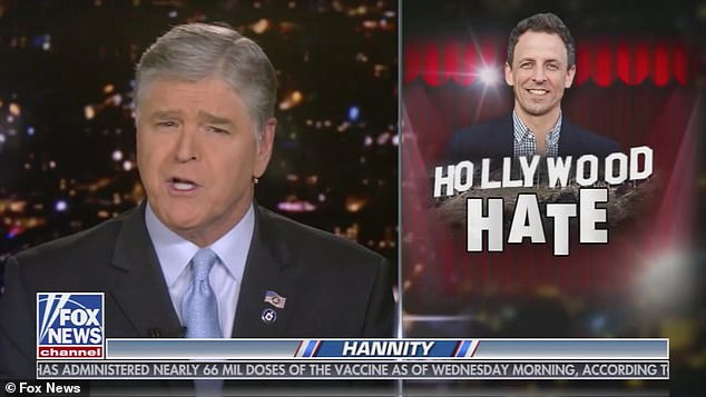 Sean Hannity brands Seth Meyers an 'a******' after Late Night host called him a 'sociopath'