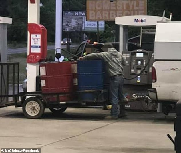 Panicked motorists have been seen hoarding fuel at gas stations across the southeast, but experts say it poses a safety concern