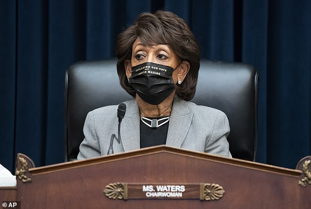 Waters, pictured on April 20, is said to have made the request despite allegedly already having two US Capitol Police officers and two Secret Service agents accompanying her