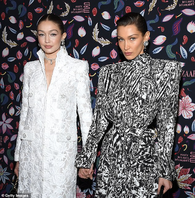 Model daughters: The famed sisters are Palestinian and Dutch and both have become two of the world's most in demand supermodels; pictured February 2020