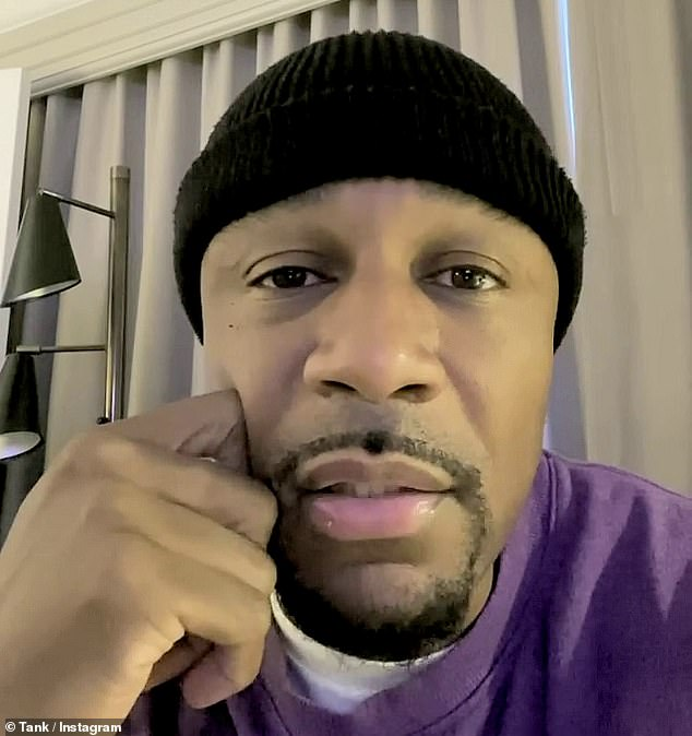 Fighting through it: Although he acknowledged the severity of his health issues, Tank told his followers that he was determined to remain optimistic