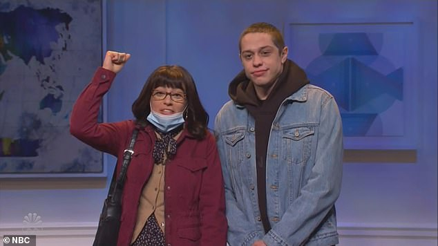 The issue of public transit was then addressed with Melissa Villaseñor and Pete Davidson