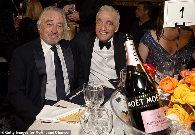 Buddies:The film will be the 10th feature film De Niro and Scorsese will have worked on, a relationship that goes back to the early 1970s; seen in 2020
