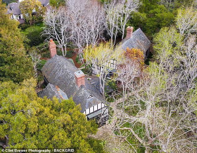 Wedding venue?Ariana bought Ellen's former home, a unique 5,500-square-foot Tudor-style mansion which she paid $6.75 million for last August (pictured above)