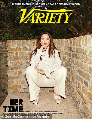 Hayek on the cover story for the latest issue of Variety as she detailed her near-fatal fight against COVID-19