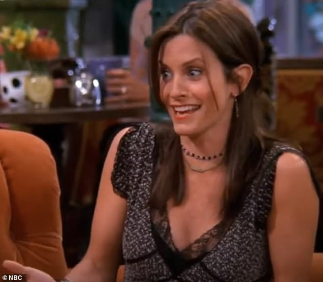 Remember when:Courteney wore the dress while playing Monica during the show's eighth season on the episode The One Where Rachel Is Late