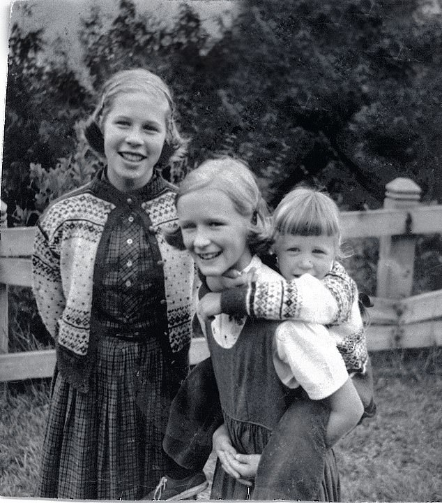 Family unit:Glenn (centre) grew up alongside elder sisters Tina (left) and younger sibling Jessie (right) who battled with her own mental health demons throughout her life.