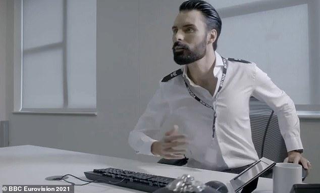 Eurovision 2021 host Rylan Clark-Neal grills UK hopeful James Newman in Line Of Duty parody