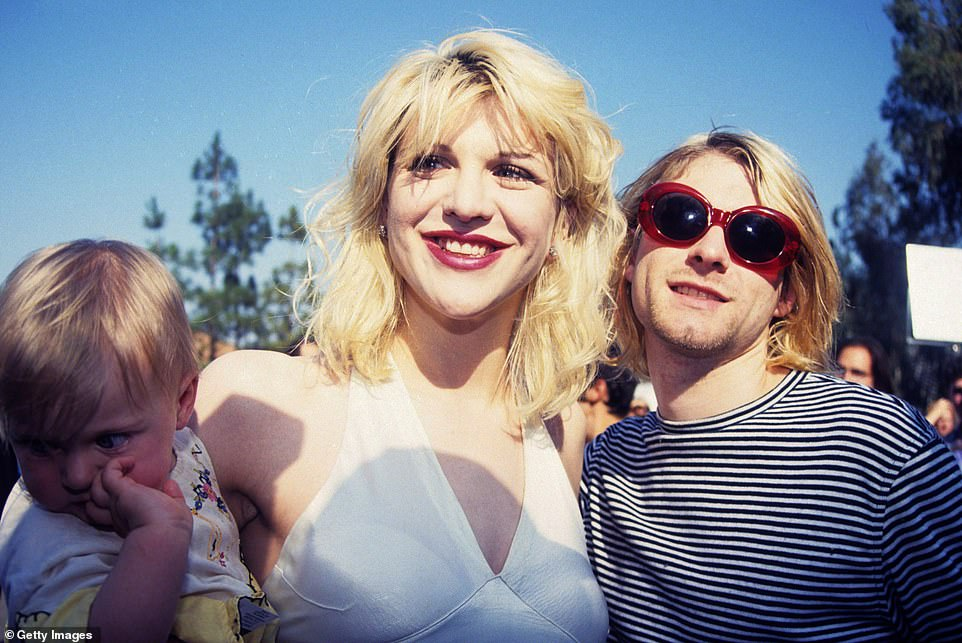 History: Kurt Cobain and Courtney Love's former Hollywood Hills home, in which they lived during their tumultuous relationship 29 years ago, is on the market for $998,000; seen in 1993