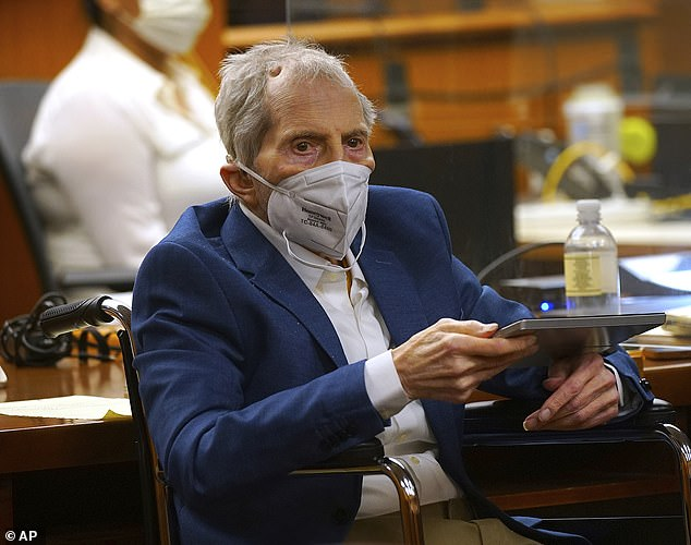 Robert Durst (pictured on Tuesday) has told so many lies over the years that he is unable to remember them all - and his own words will be his 'undoing', a prosecutor said Tuesday
